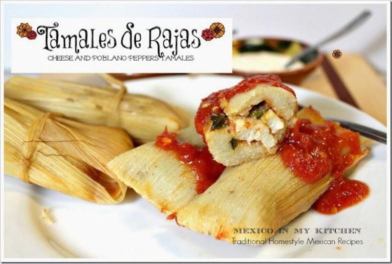 Tamales de rajas recipe for Dia d e los Muertos