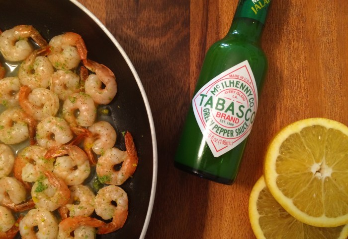 Citrus Jalapeño Shrimp. We have always used Tabasco to spice things up at home