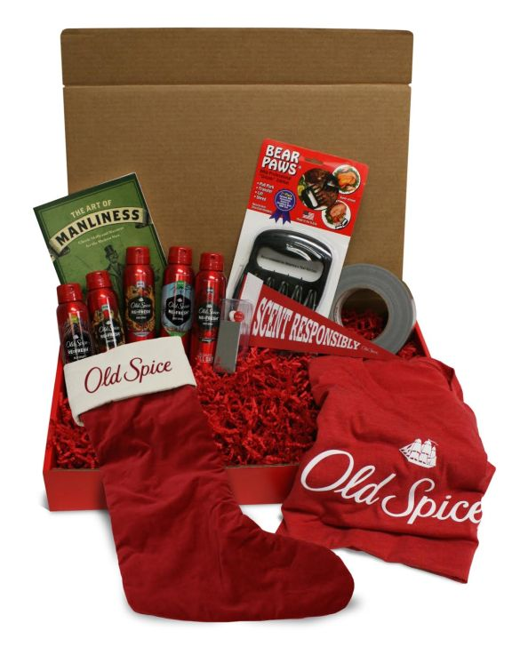 Old Spice Holiday Smellcome to Manhood Kit.