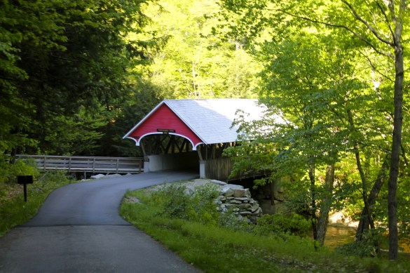 Flume Covered Bridge in Franconia Notch park