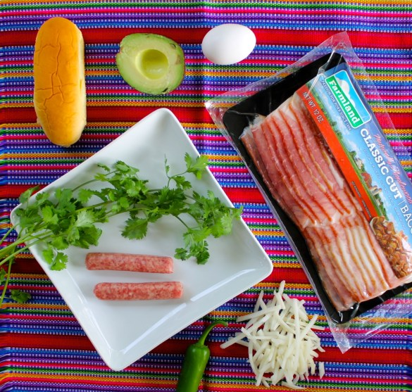 bacon sausage and egg hot dogs ingredients