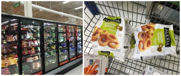 Alexia onion rings at Walmart