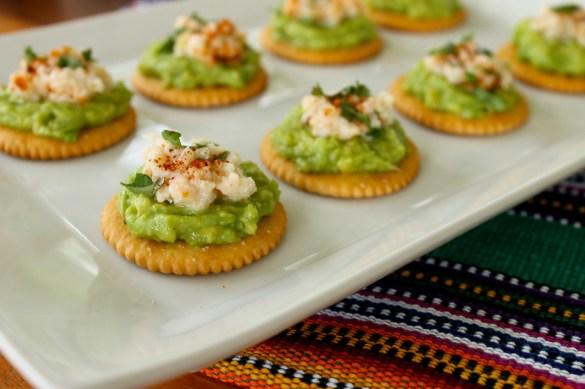 Spicy chipotle avocado and crab bites