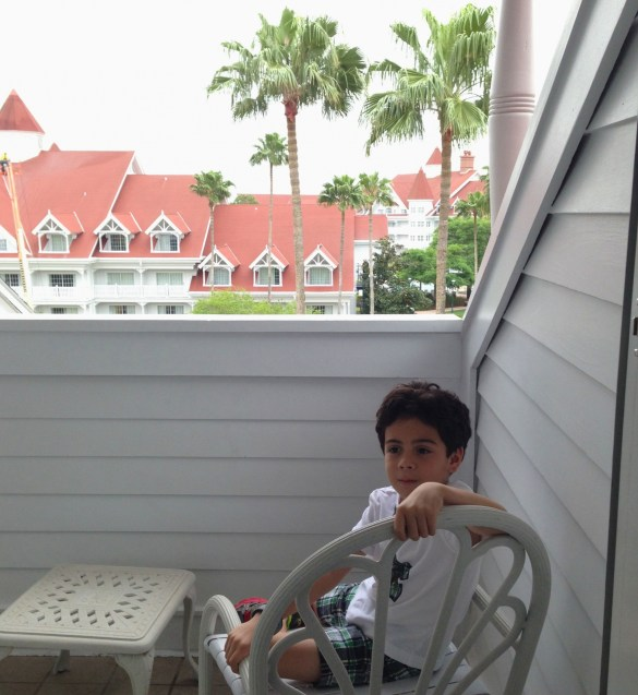 Disney's Grand Floridian Resort: private balcony in room.