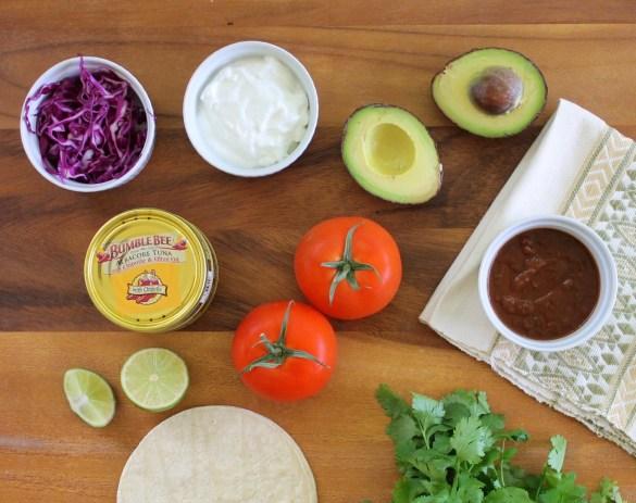 5 minute skinny tuna tacos