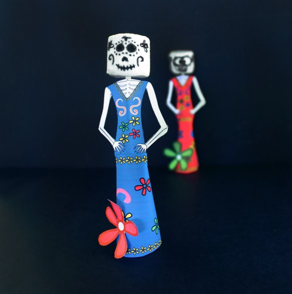 dia de los muertos day of the dead craft with marshmallows