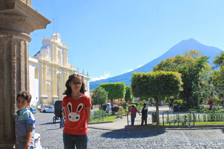 Antigua Guatemala, view of the Catedral and the Parque Central