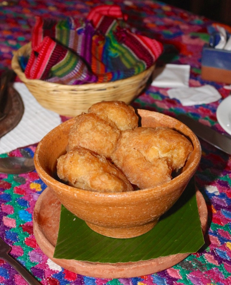 Buñuelos at Kacao restaurant in Guatemala City.