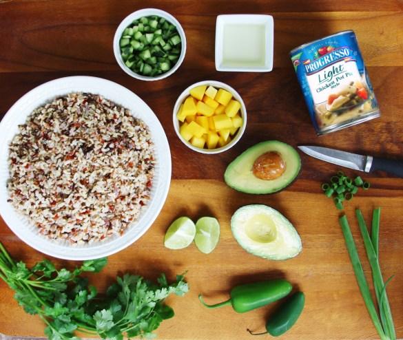 rice mango salad ingredients