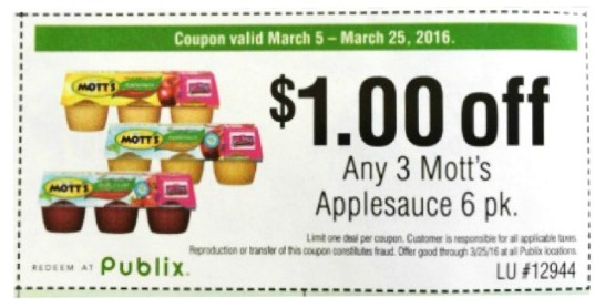 Motts Coupon for $1.00 off