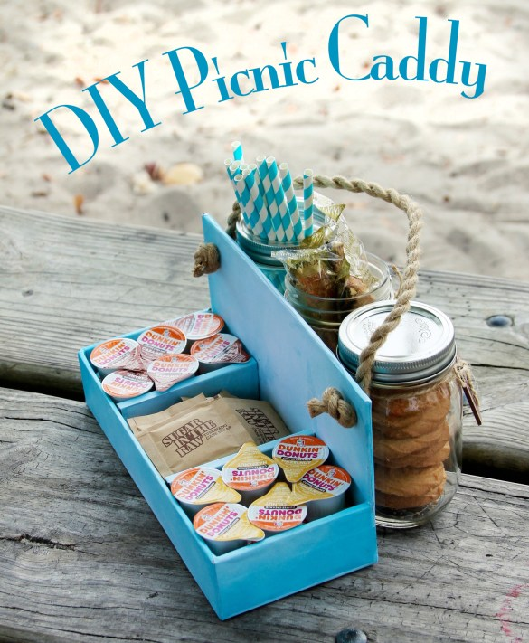 DIY Picnic Caddy pinterest