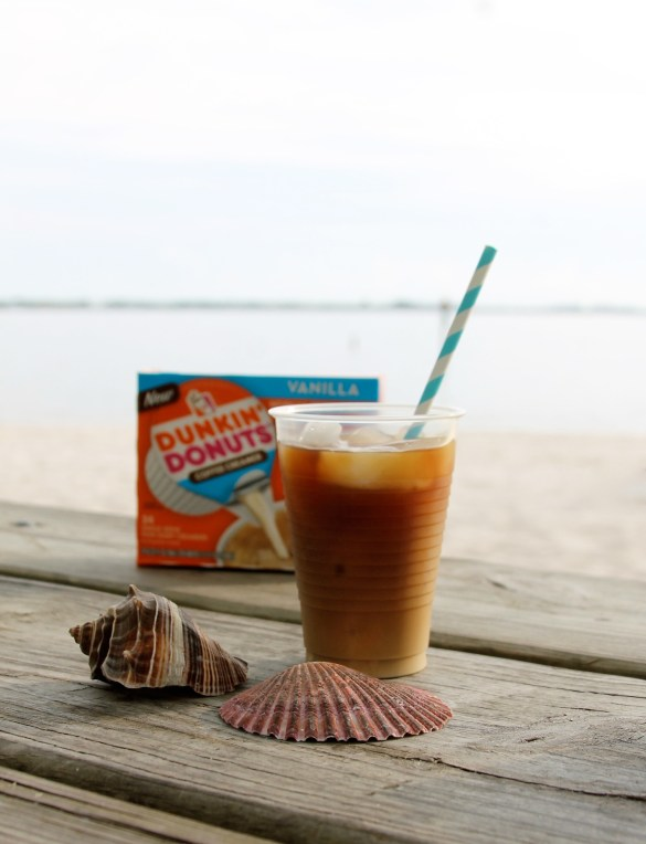 The Dunkin' Donuts® single serve creamers for ice coffee