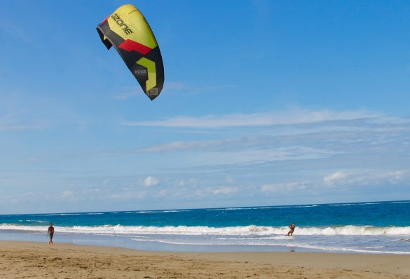 windsurfing in Cabarete beach in Puerto Plata