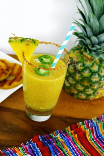 Spicy pineapple jalapeño margarita mocktail pic2