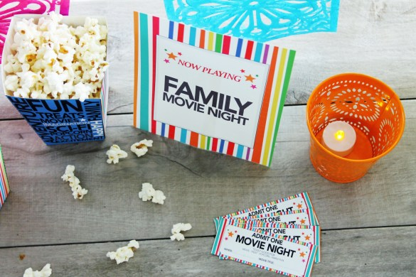 DIY Movie night Printables pic2