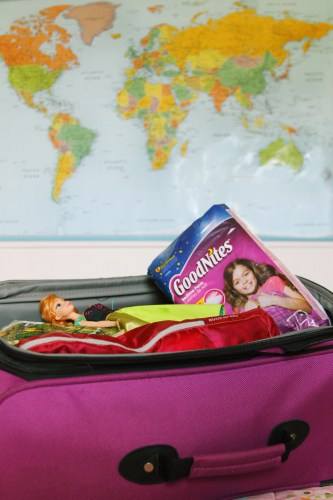 Goodnites in luggage