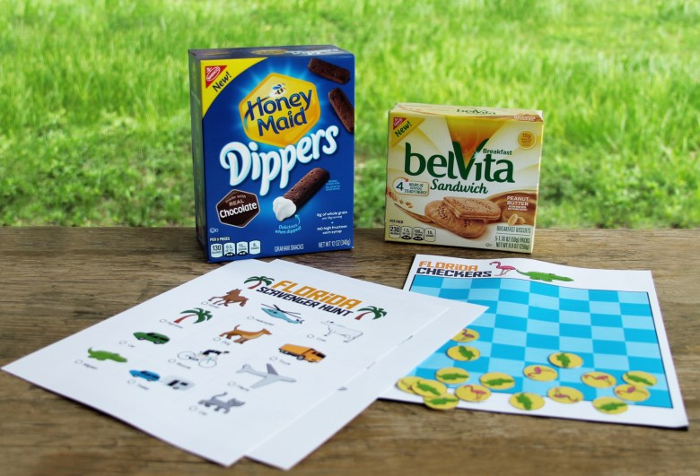 Florida road trip games and snacks
