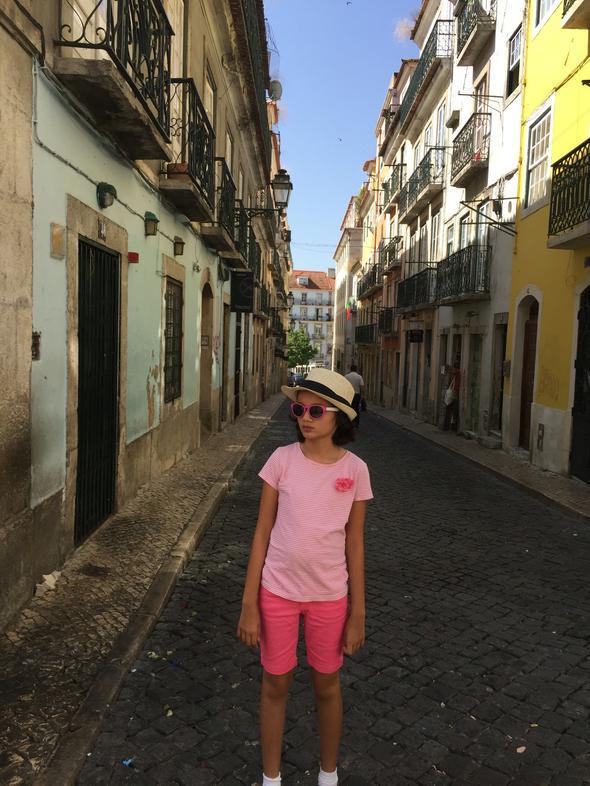 Walking along Bairro Alto in Lisbon