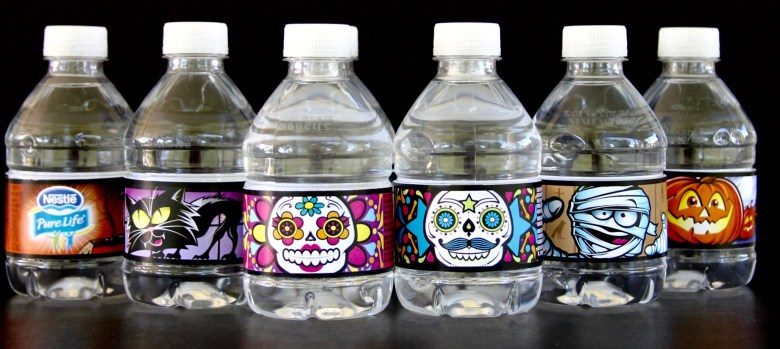 Nestle Pure Life Share a Scare water bottles