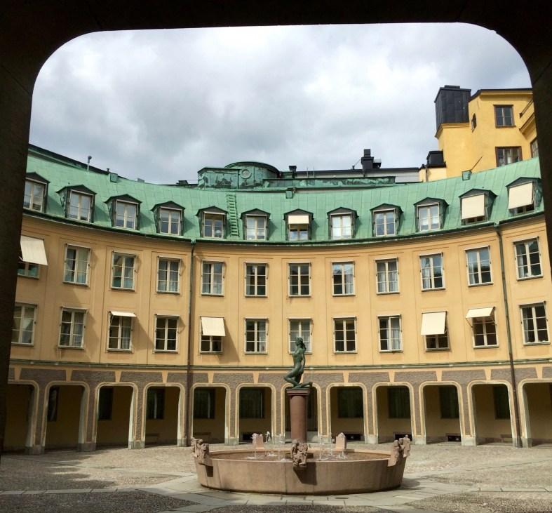 Brantingtorget square in Gamla Stan Stockholm