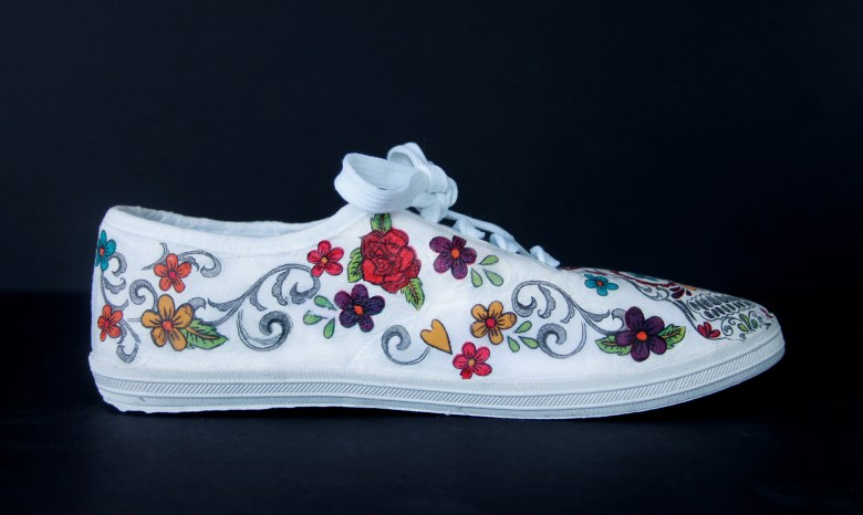 DIY Day of the Dead shoes