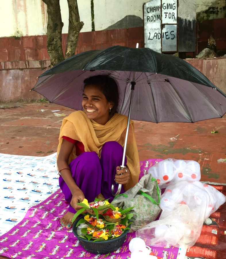 woman traveling solo in India