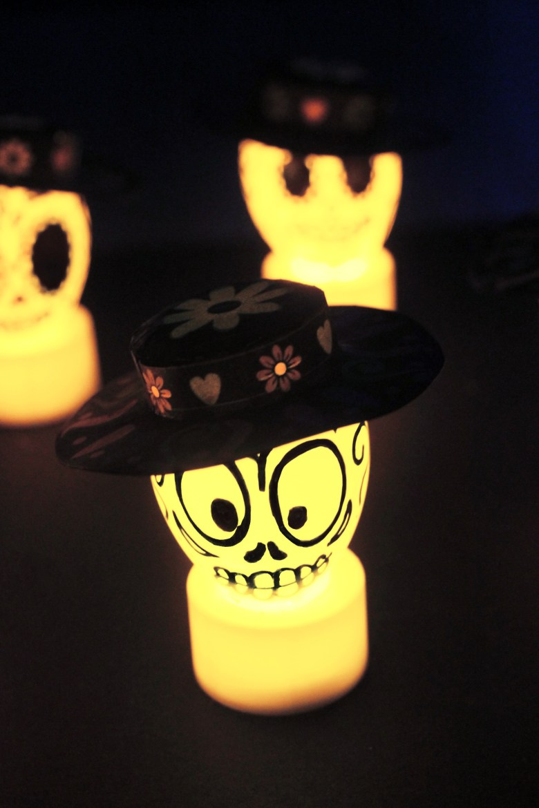 Easy DIY Glowing Day Of The Dead Sugar Skull Decorations - Growing ...