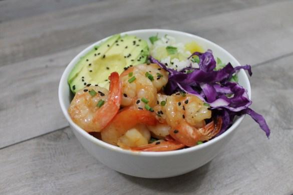 Orange Chipotle Shrimp Rice Bowl