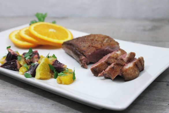 chipotle duck breasts with orange salsa