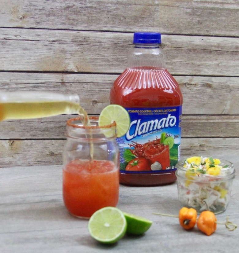Habanero Michelada with Clamato