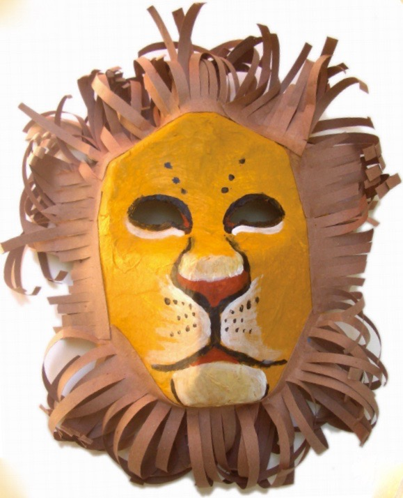 Lion DIY mask for the Lion King Party