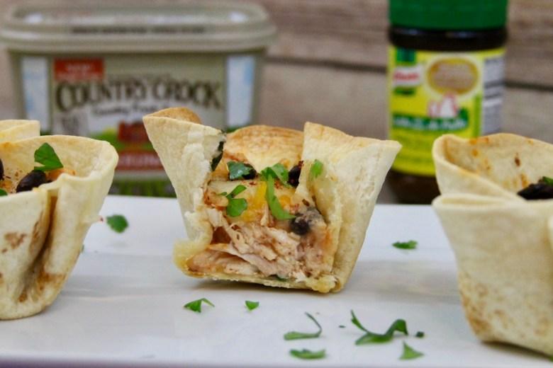 Easy Chipotle Chicken Enchilada Cups Recipe