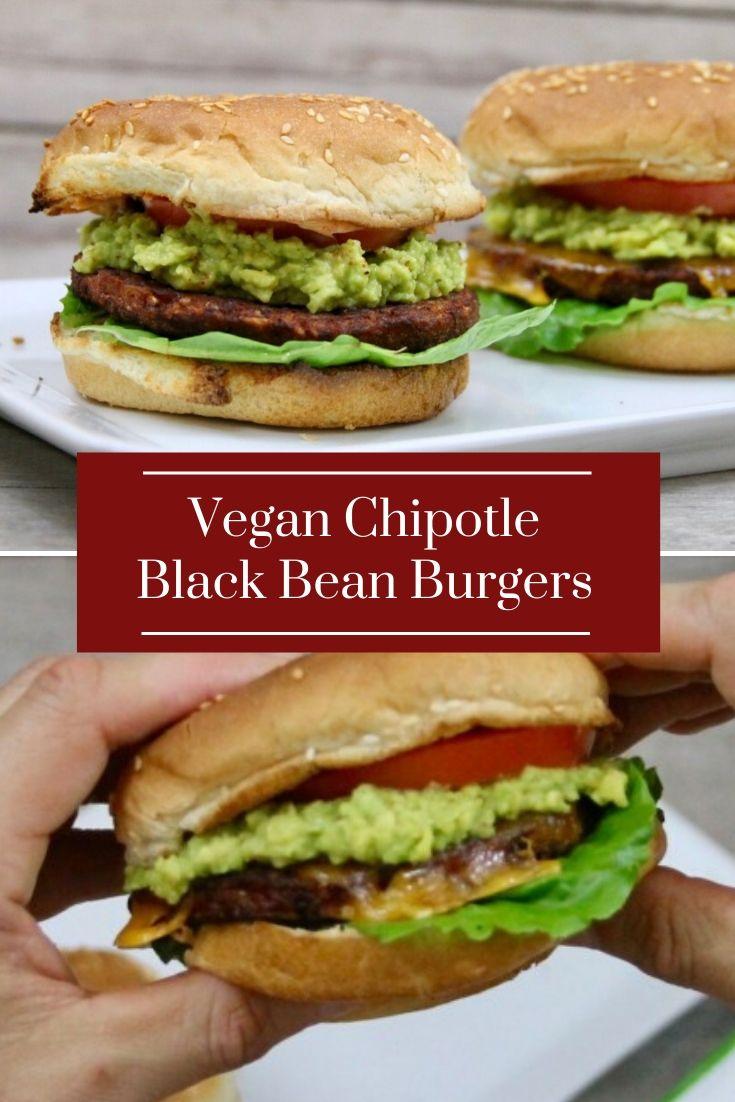 Vegan Chipotle Black Bean Burgers