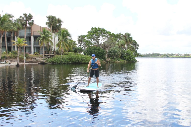 Paddle boarding at Club Med Sandpiper Bay