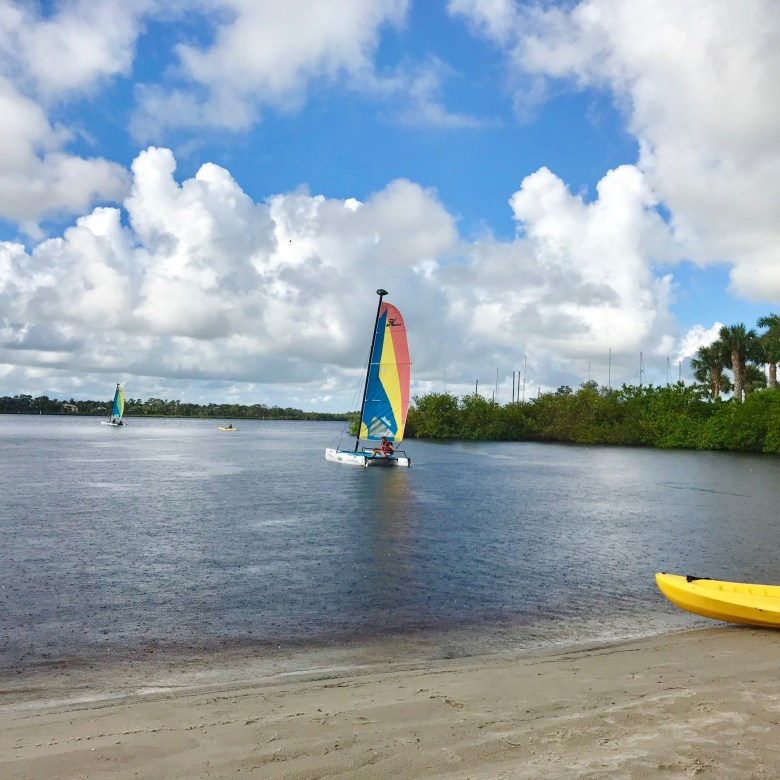 sailing at Club Med Sandpiper Bay