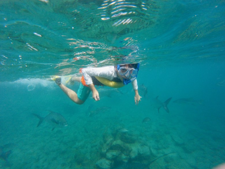 Snorkeling in Curacao kids