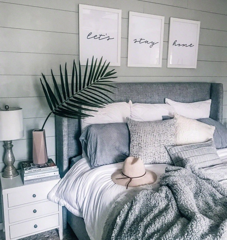bedroom inspiration interior design in grays