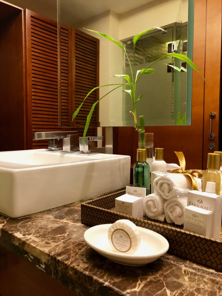 luxurious toiletries at Dreams Las Mareas Costa Rica