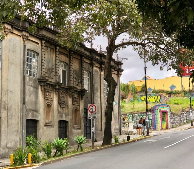 graffiti art next to historic building in San José Costa Rica