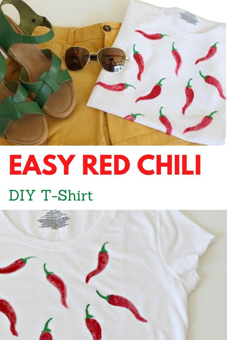 Easy Red Chili DIY T-Shirt