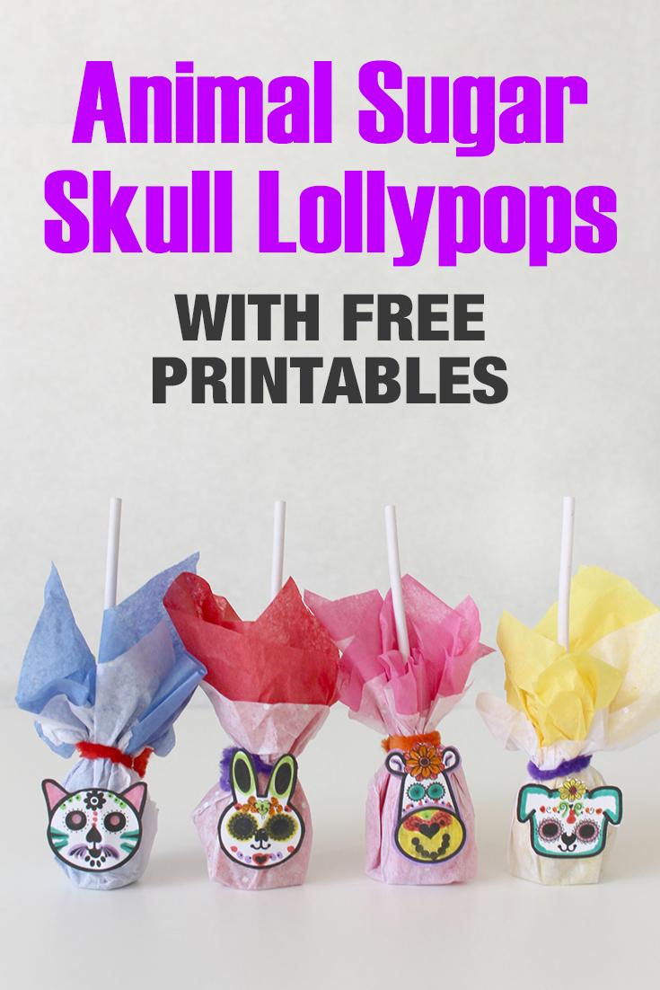 Day of the Dead Inspired Animal Sugar Skull Lollipops
