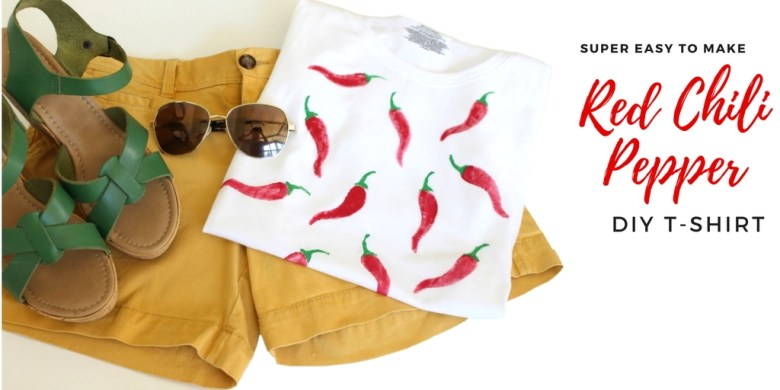 red chili pepper DIY t-shirt