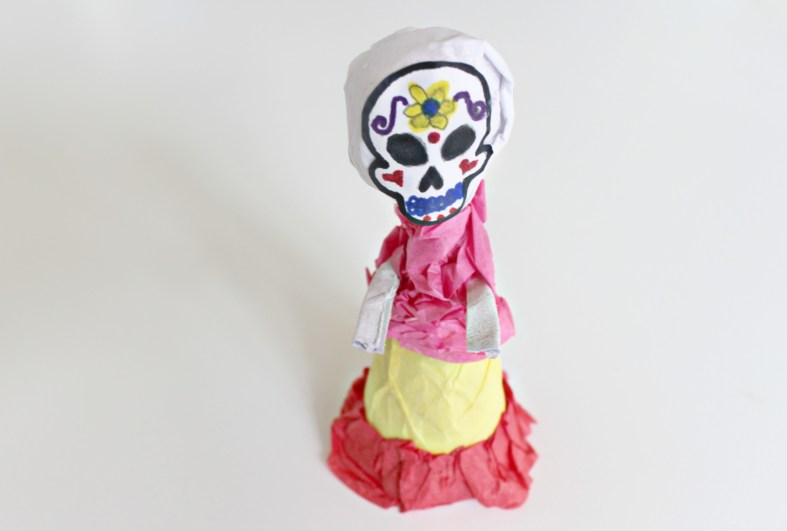 Day of the Dead DIY catrina craft for kids