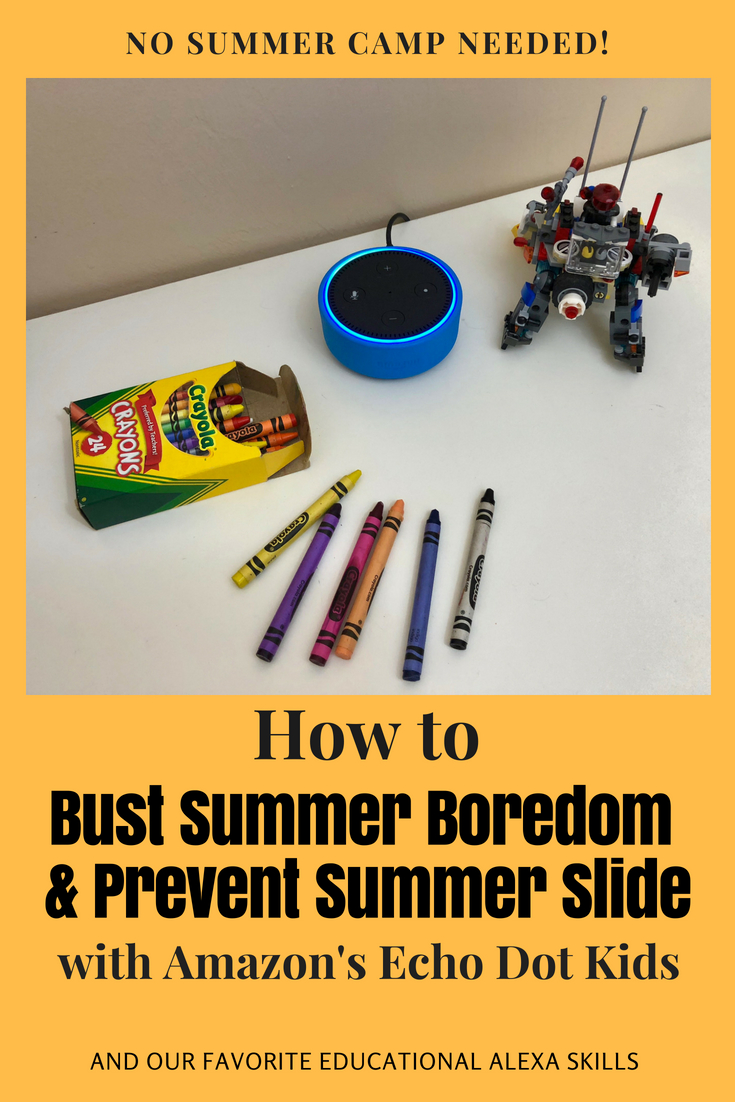 How to Bust Summer Boredom and Prevent Summer Slide using Amazon's Echo Dot Kids