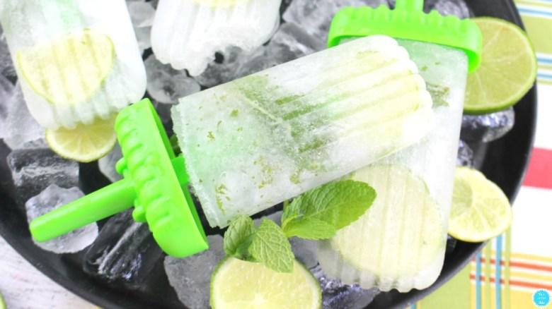 Mojito Popsicle: Frozen cocktail dessert recipes