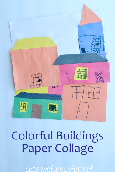 Buildings Collage Argentine craft for kids and other Latin American crafts to celebrate Hispanic Heritage Month
