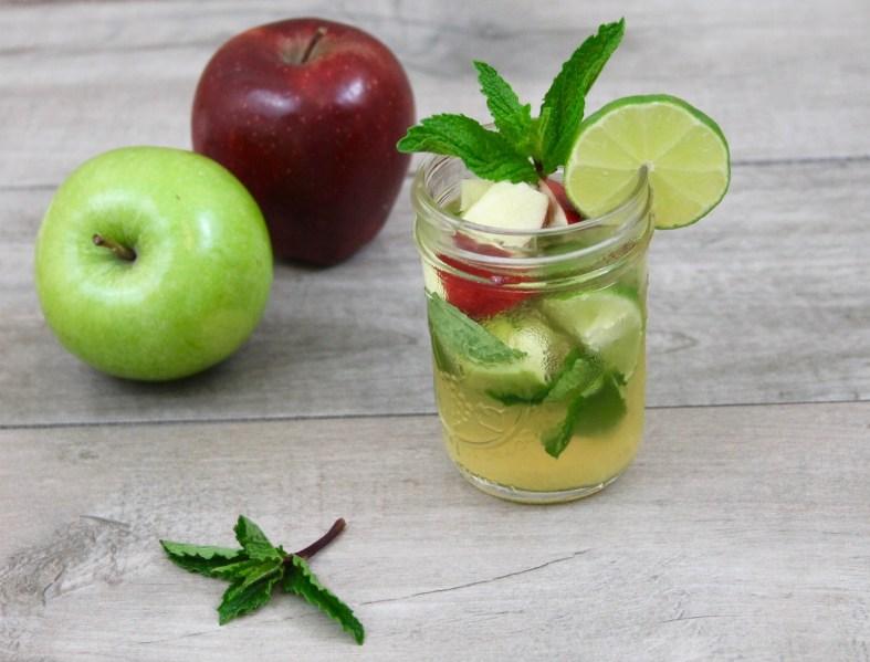 apple cider mojito fall cocktail