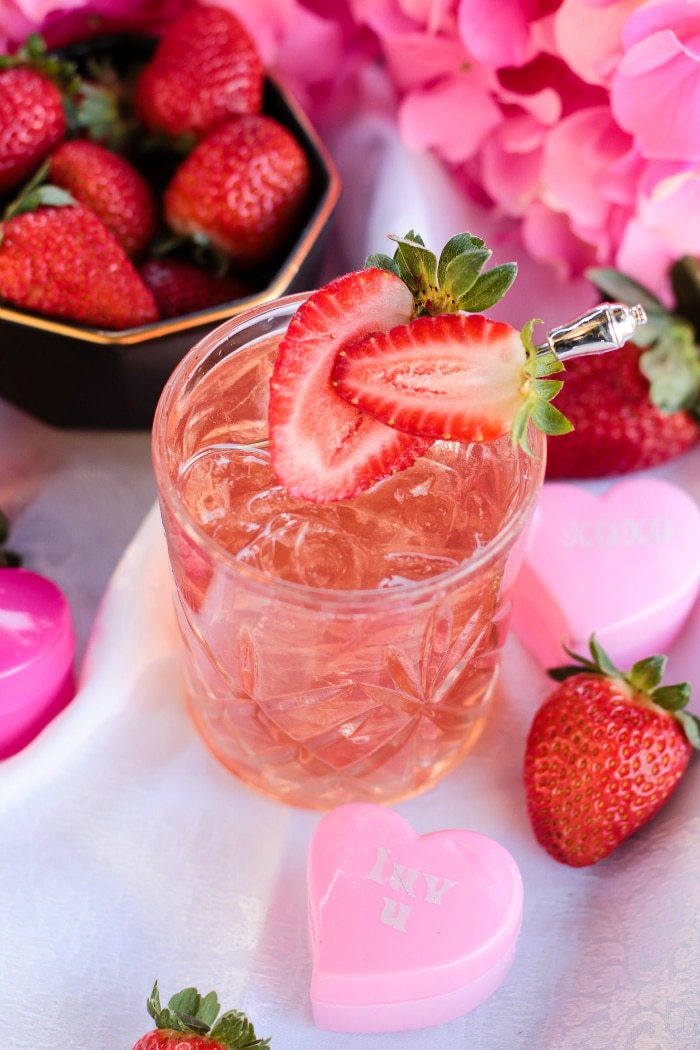 Strawberries and Chill Valentine's Cocktail