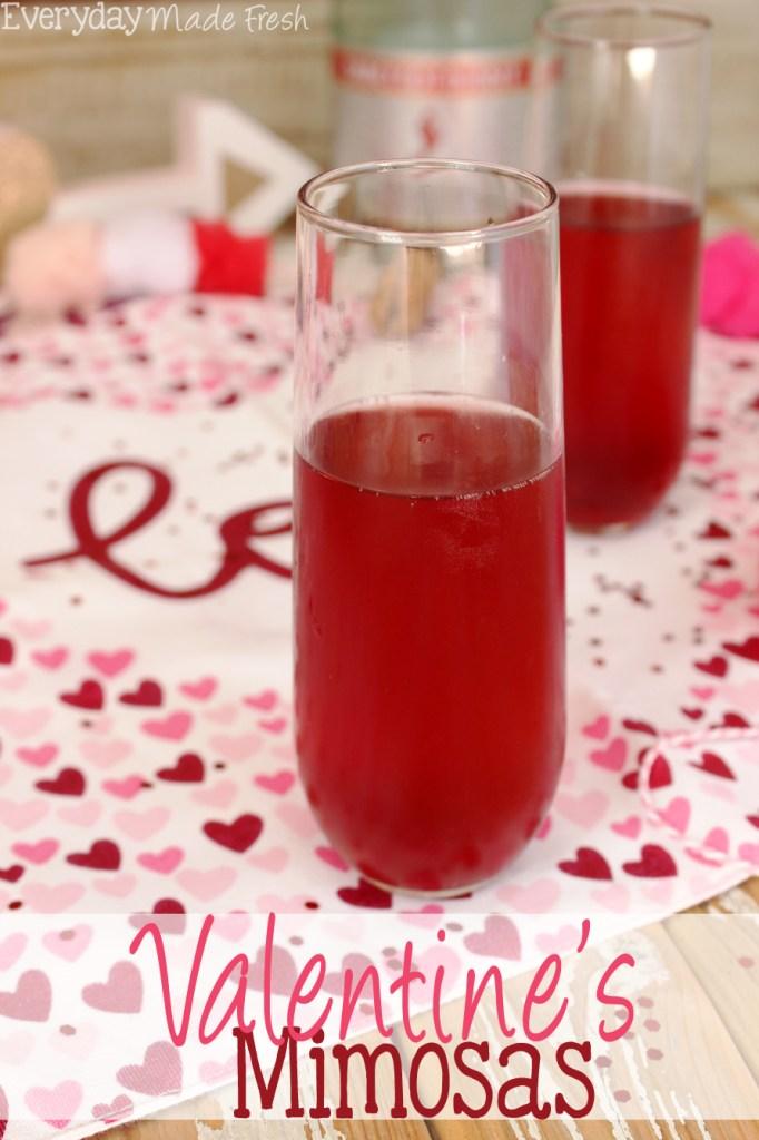 Valentines Mimosas Cocktail