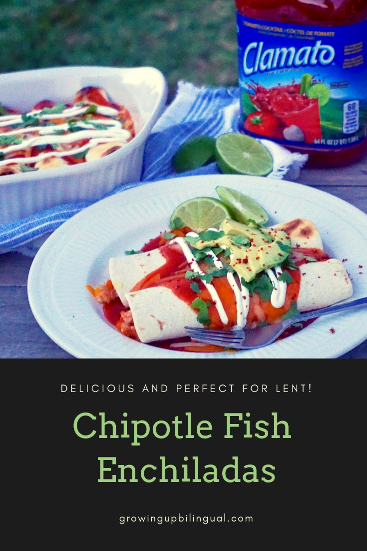 These chipotle fish enchiladas are so delicious and perfect for lent.